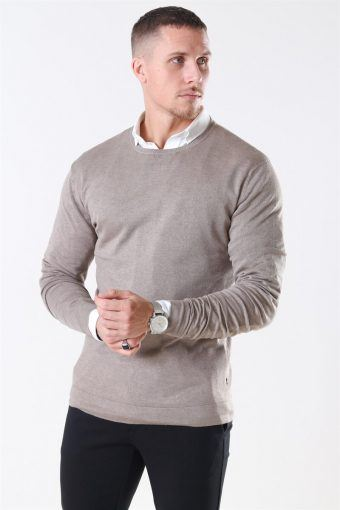 Tailored & Originals Mont Strik O-Neck Dune