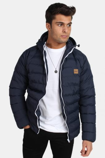 TB863 Basic Bubble Jacket Navy/White/Navy