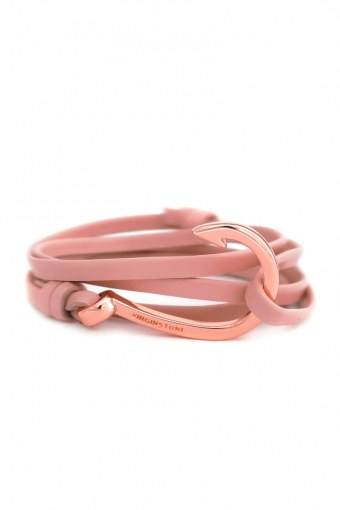 Hook Leather Armbånd Rose Red/Cobber
