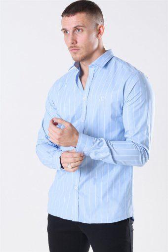 Ramon Stripe Shirt Placid Blue/ White