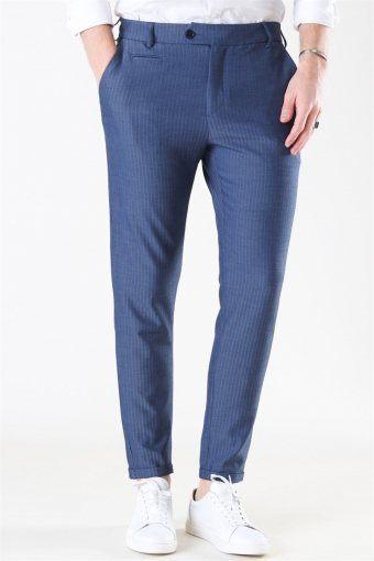 Como Herringbone Suit Pants Dark Navy