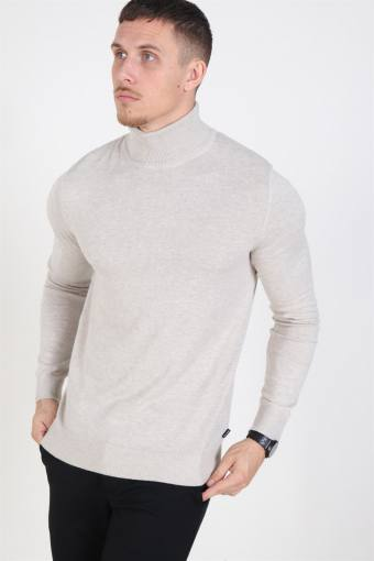 Jack & Jones Emil Rullekrave Knit Oatmeal