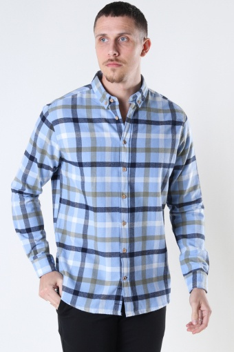 Johan check gr.40 shirt Light Blue