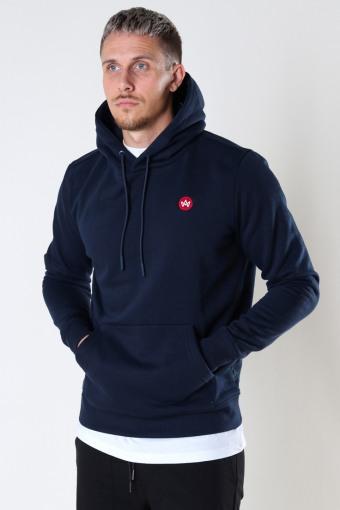 Lars Organic/Recycled hood sweat Navy