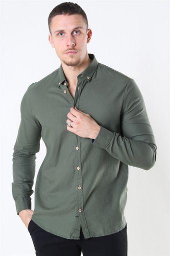 Johan Diego Cotton Shirt Army