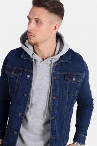 Kash Denim Jacket Dark Blue