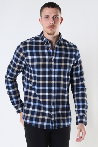 Johan check gr.40 shirt Navy