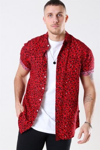 Grande S/S Shirt Red Leo