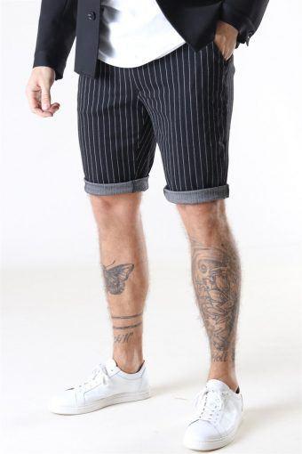 Ponte Shorts Black White Pin