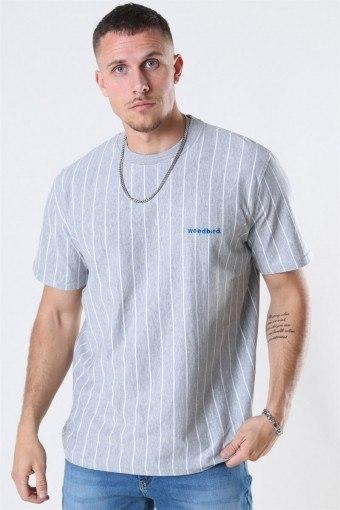 Mello Stripe T-shirt Grey Melange