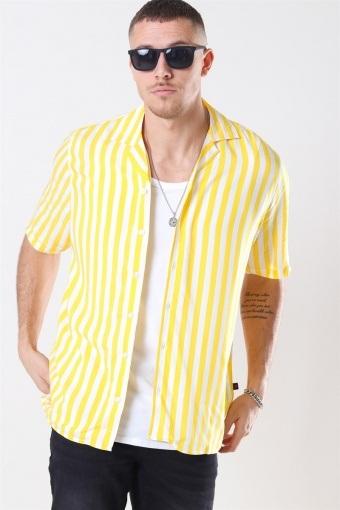El S/S Cuba Shirt Yellow/White