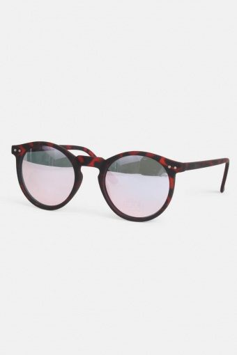 Fashion Panto Sunglasses Havana Rubber