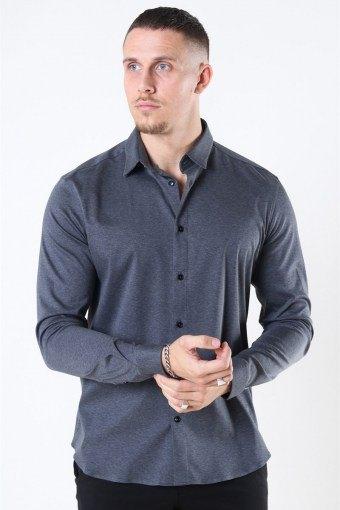 Mos Mosh Marco Jersey Shirt Dark Grey Melange