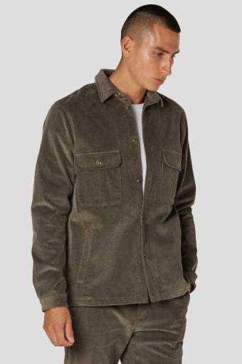 Corduroy Overshirt Dusty Green