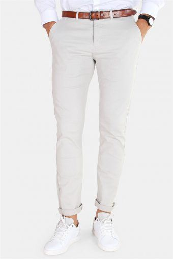 Daniel Stretch Chino Pants Light Grey
