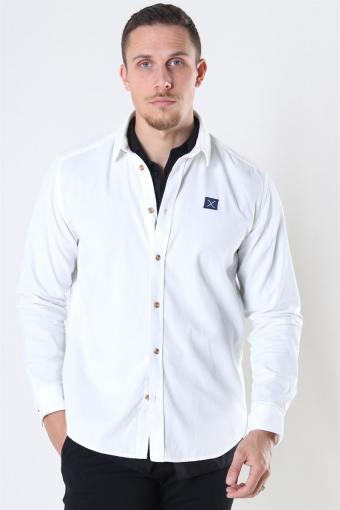 Clean Cut Corduroy Shirt LS Ecru