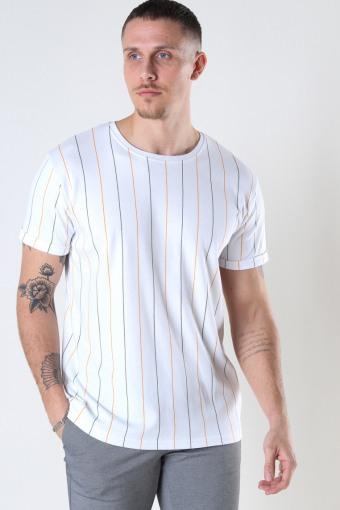Louis Organic Tee White Stripe