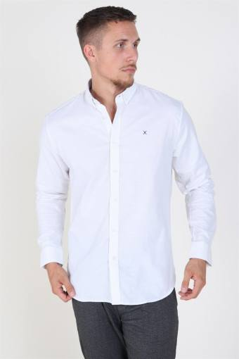 Clean Cut Oxford Plain Shirt White