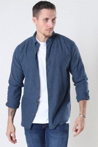 Edin LS Flannel Twill Shirt Bering Sea