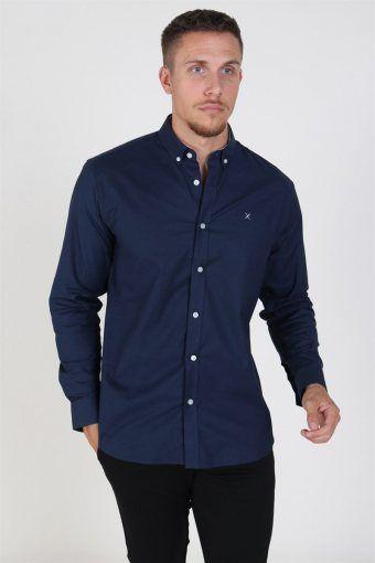Clean Cut Oxford Plain Shirt Navy
