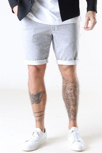 Ponte Shorts Light Grey Melange White Pin