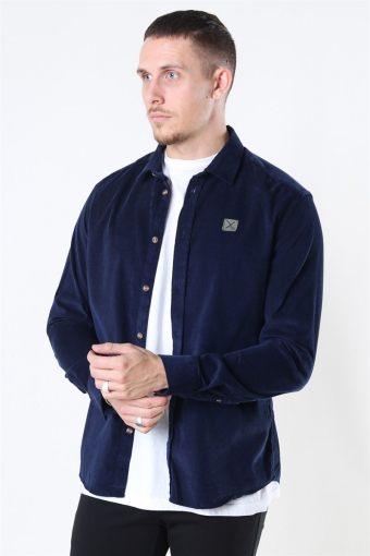 Clean Cut Corduroy Shirt L/S Navy