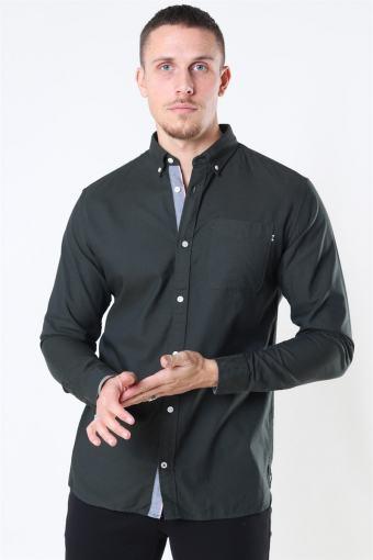 Classic Soft Oxford Shirt LS Olive Night