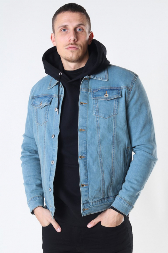Peyton Denim Takki Light Village Blue Denim