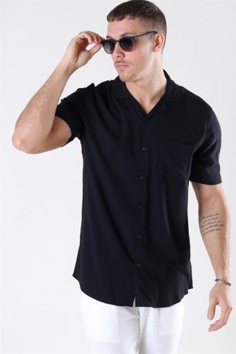 Silo Solid Viscose Shirt Black