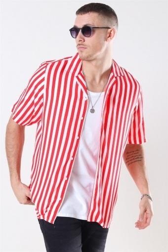 El S/S Cuba Shirt Red/White