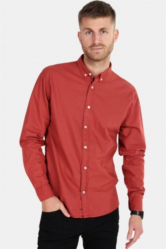 Johan Oxford Dyed Shirt Brick