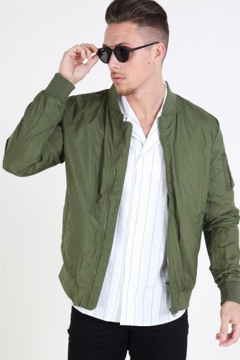 Light Bomber Jacket Olive