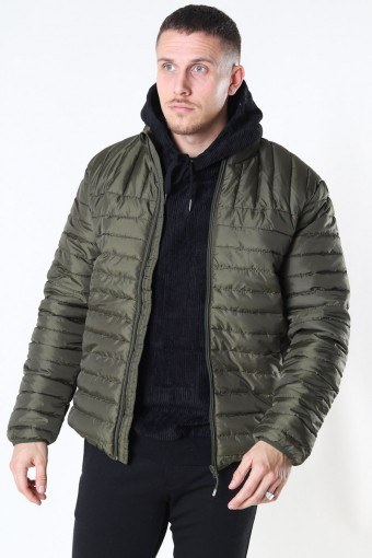 Paul Quilted Highneck Takki Olive Night