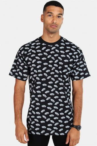 All Over Distorted SS Black T-shirt