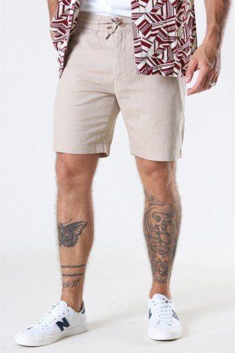 Barcelona Cotton/Linnen Shorts Khaki