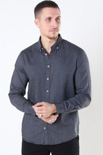 Johan Diego Cotton Shirt Dark Grey