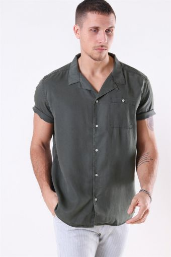 Laurent Tencel SS Paita Dark Green