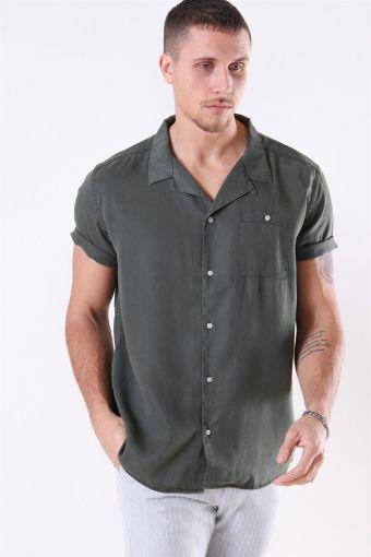 Laurent Tencel SS Shirt Dark Green