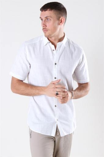 Slub SS Linen Look Shirt White