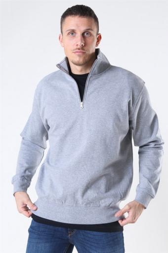 Quarter Zip Sweat Oxford Grey
