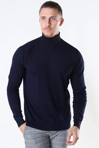 Potter Turtleneck Strik Navy