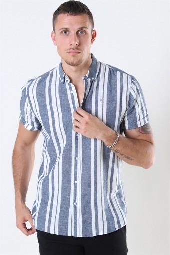Clean Cut Sälen 146 SS Shirt Blue/Off White