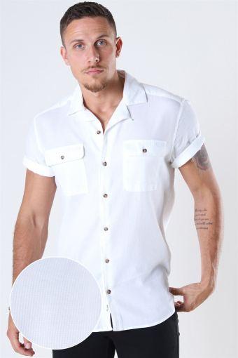 Andrew Waffle Shirt S/S White