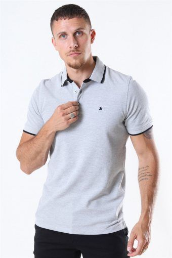 Jack & Jones Paulos Polo SS Light Grey Melange