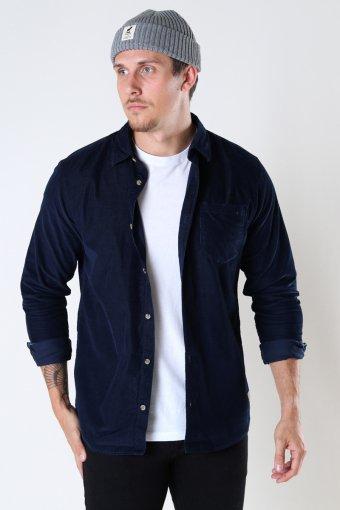JJKENDRICK CORD SHIRT LS Navy Blazer /SLIM