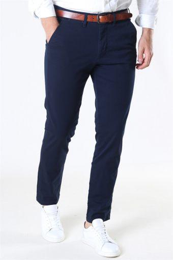 Slim Miles Flex Chino Pants Dark Sapphire