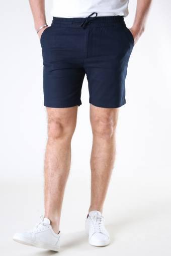 Barcelona Cotton / Linen Shorts Navy