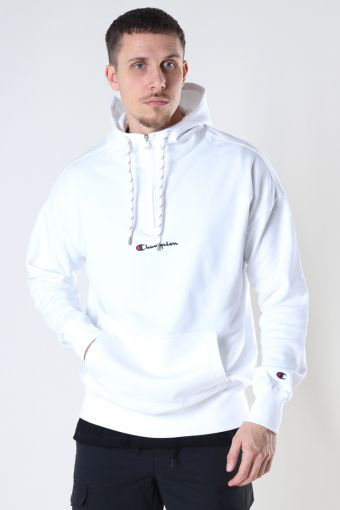 Half Zip Hooded Sweatshirt WHT