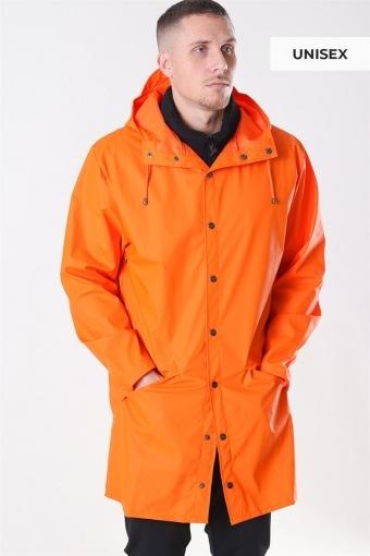 Long Regnjakke Fire Orange