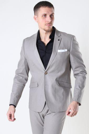 Cotton Linen Blazer Grey